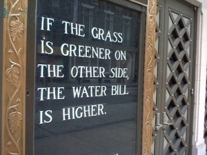 If the Grass is Greener...