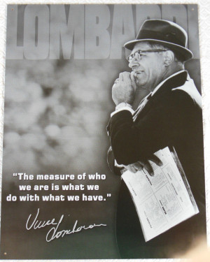 Vince Lombardi Sports Quote Measure of a Man Vintage Advertising Tin ...
