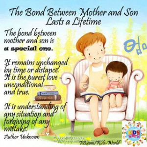 BOND BETWEEN MOTHER AND SON LASTS A LIFETIMEThe bond between mother ...