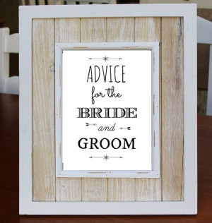 Advice For The BRIDE AND GROOM Digital Download Art Print, Love Quote ...