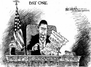 Small Steps: Political Cartoons