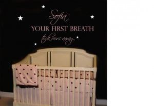 quote for Kinsley's wall-Quote Saying Baby Girl Boy Nursery Wall ...