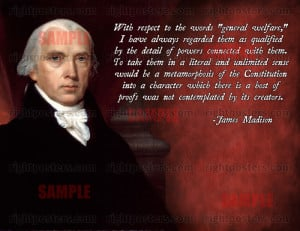 James Madison general welfare quote