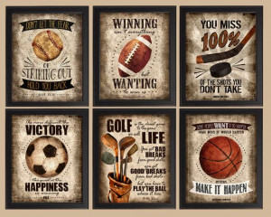Famous Sports Quotes Set of 6 photo prints Poster by quotograph, $24 ...
