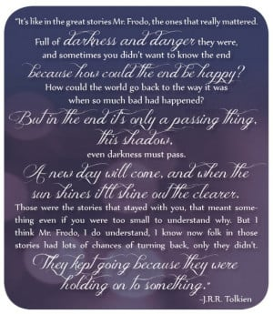 Lord Of The Rings Quotes My favorite lord of the rings