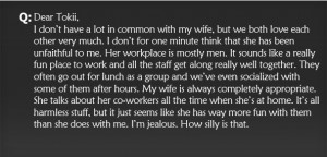 Ask Tokii – Jealously and Wife's Work