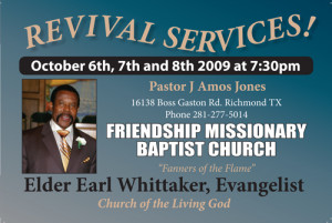 church revival program homestead fl revival church service flyer ...