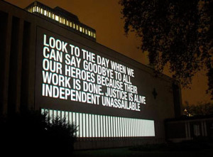 ... heroes. Complete Hero is a projection-based artwork by Martin Firrell