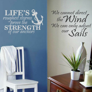 Vinyl Wall Lettering Strength of Anchors or Adjust Sails Nautical ...