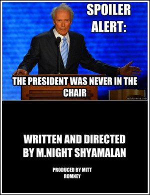 Clint Eastwood and his chair inspired a meme.