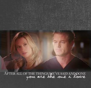 Grey's Anatomy Mark and Lexie