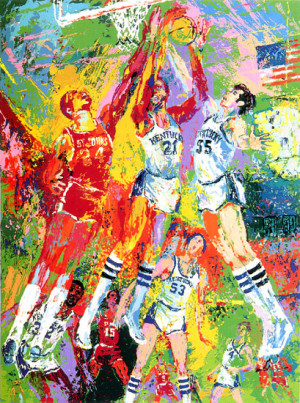 leroy neiman nieman kentucky wildcats college basketball