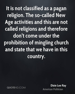 It is not classified as a pagan religion. The so-called New Age ...