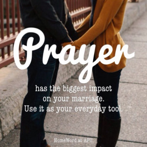 am there. Matthew 18:20. A couple that prays together...stays together ...