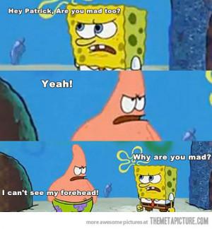 funny SpongeBob Patrick mad