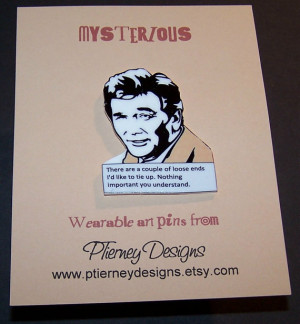 COLUMBO Mystery Quote Pin