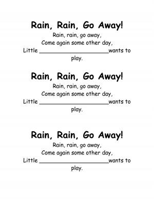 rain rain poem