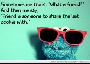 Cookie Monster- Friends