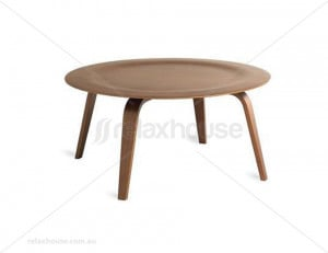 home moulded plywood coffee table eames replica walnut