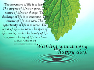 Wishing you a very happy day!