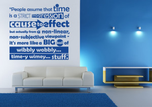 Dr Who Time Quote Wall Art Sticker