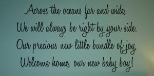 ... Kids & Teens » Babies & Nursery » Welcome Home, Baby Boy Wall Decal