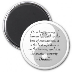 Famous Buddha Quotes - Power of Faith Refrigerator Magnets