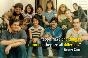 """Quote: """"People have one thing in common; they are all different ..."""