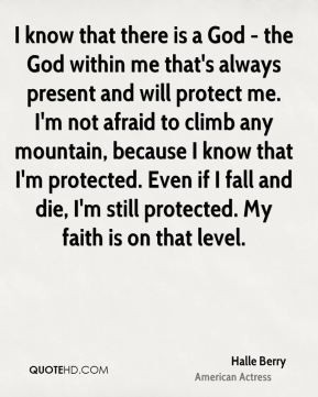 is a God - the God within me that's always present and will protect me ...