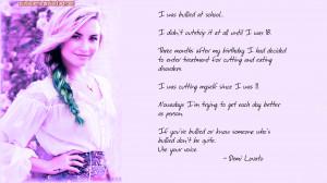 Demi Lovato Bullying Demi lovato antibullying