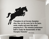 Horse-Horse decal-Quote-Horse sticker-Vinyl wall decal-35 X 26 inches