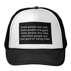 Some people are good fake insults attitude truisms trucker hat