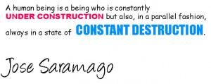 Jose saramago fashion quotes,
