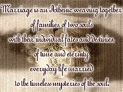 Marriage Is An Athenic Weaving Together Of Families
