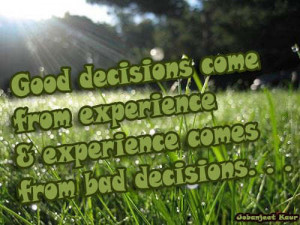 Great Quotes About Decisions: