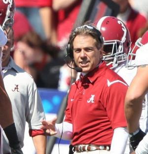 Alabama head coach Nick Saban - photo by Alabama Athletics MR