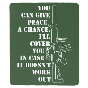 Funny Gun Rights Quotes Mouse Pad