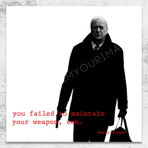 harry brown quote square wall art