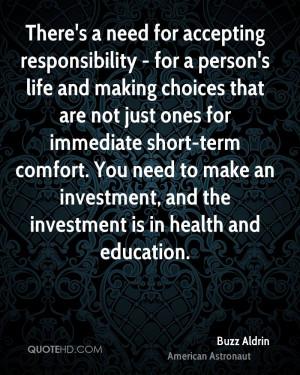 Buzz Aldrin Health Quotes