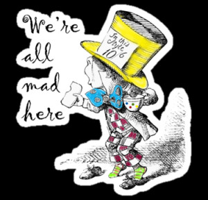 simpsonvisuals › Portfolio › Mad Hatter Tea Party T-Shirt