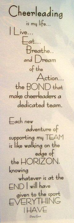 Cheerleading Poem Mat