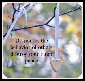 hold unto inner peace/love