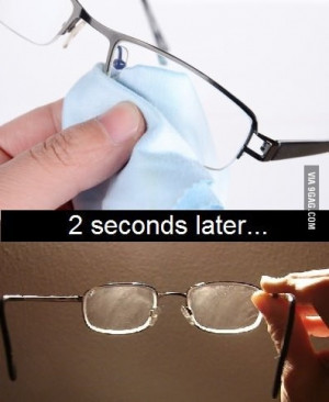 What I hate about wearing glasses