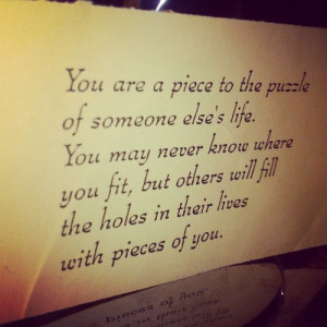 puzzle #piece #life #missing
