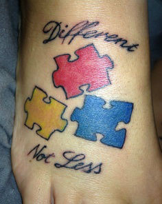 Autism tattoos quotes, Autism awareness tattoos, Autism tattoos