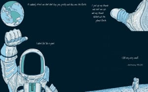 outer space quotes earth astronauts neil armstrong
