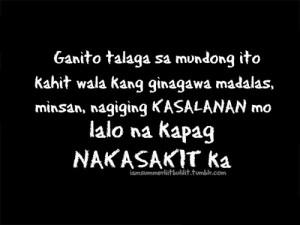 tagalog love quotes sad story