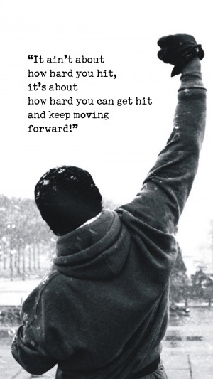Rocky Motivational Words Android Wallpaper