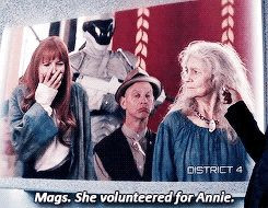Hunger Games / Catching Fire Quote / Haymitch / Mags / Annie