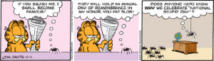 Apology Garfield Veterans Day Comic Strip